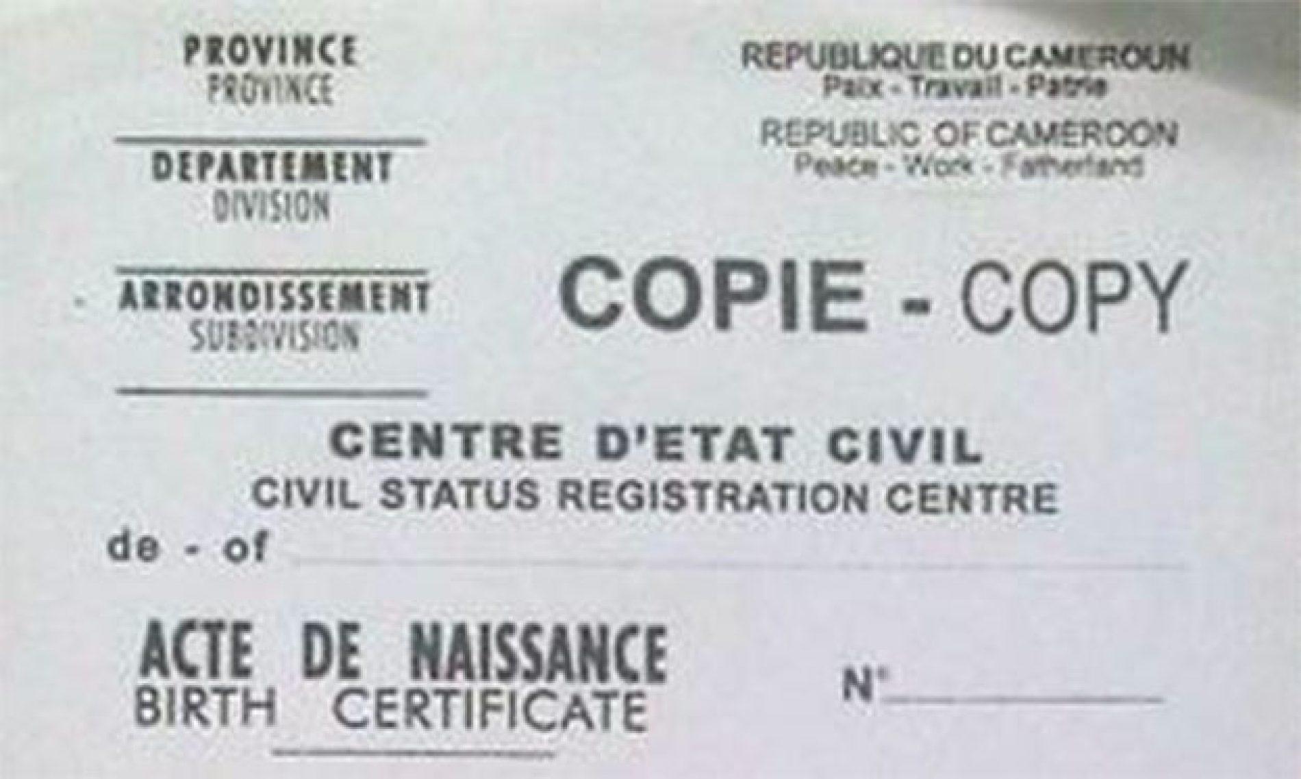 Etat civil : Le Cameroun soigne son système