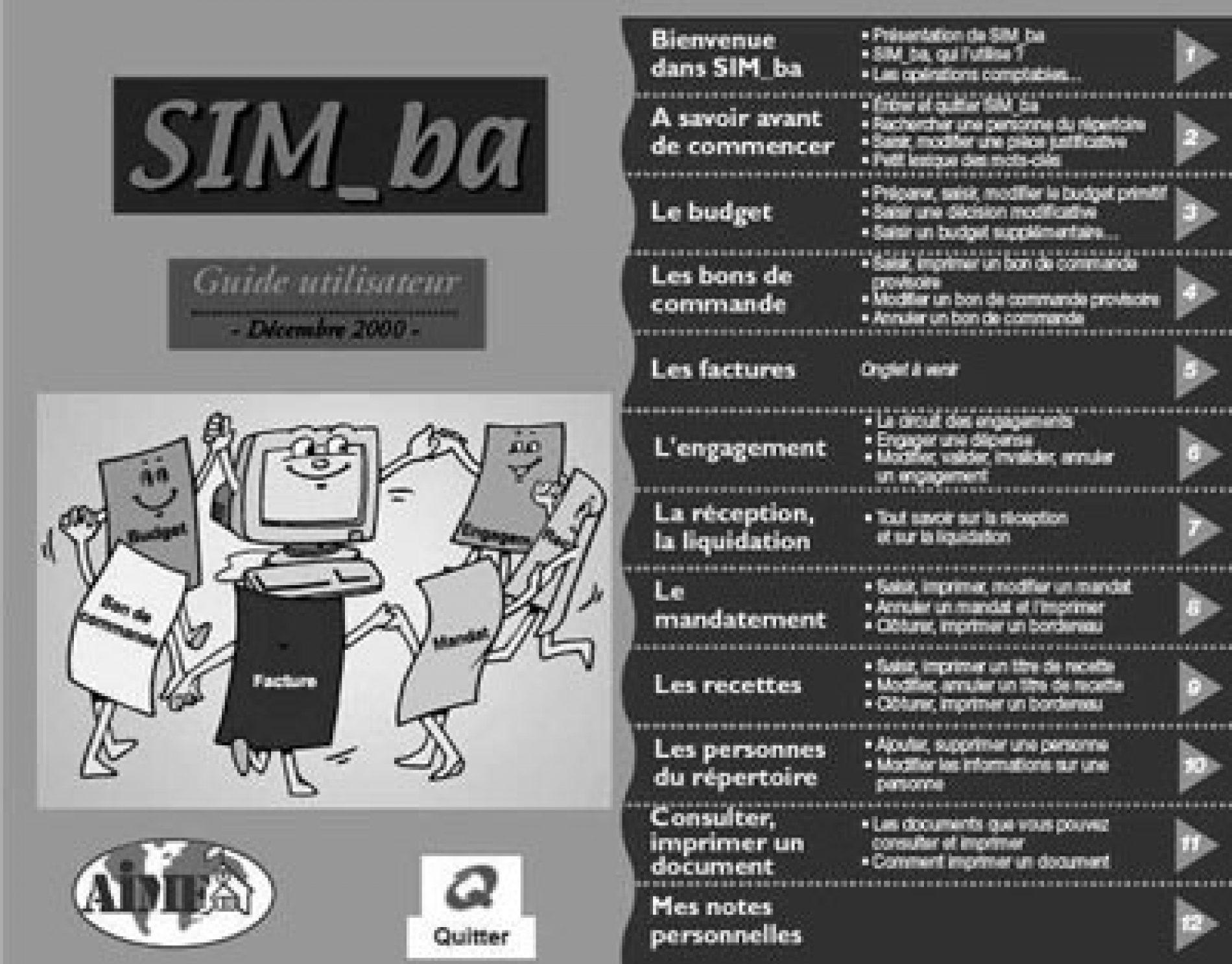 SIM_ba : Un progiciel pour la comptabilité des Ctd