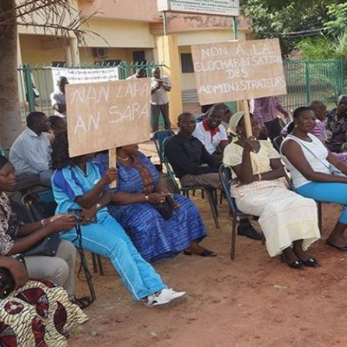 Burkina : le SYNACSAB en sit-in