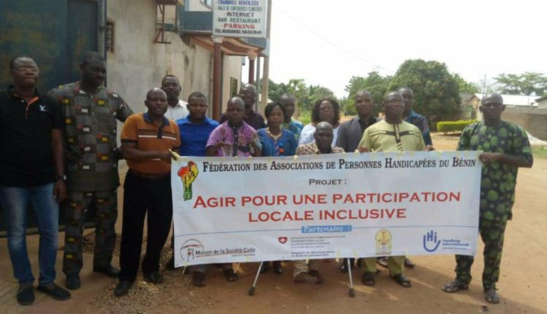 Bénin : les personnes handicapées s'impliquent dans le développement local