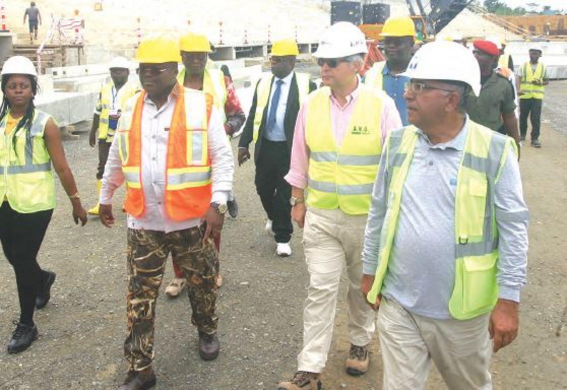 CAN 2019: évaluation des chantiers dans le littoral