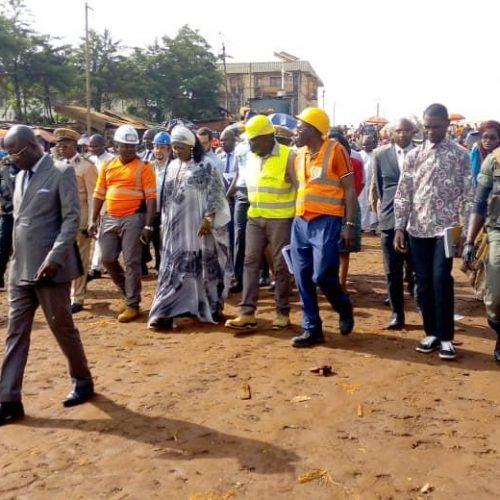 Région de l'Ouest : Célestine Ketcha Courtès évalue les chantiers