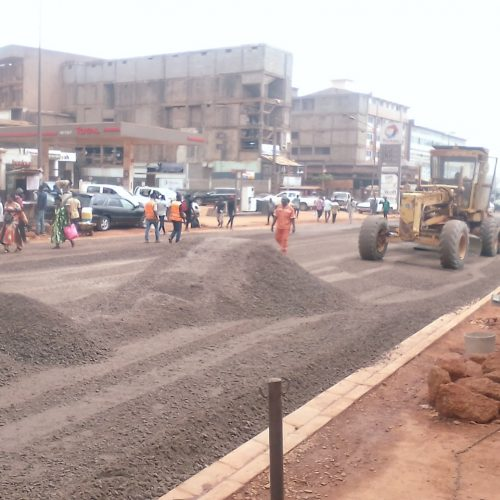 Yaoundé 2: La route en pleine rénovation à Marché Mokolo